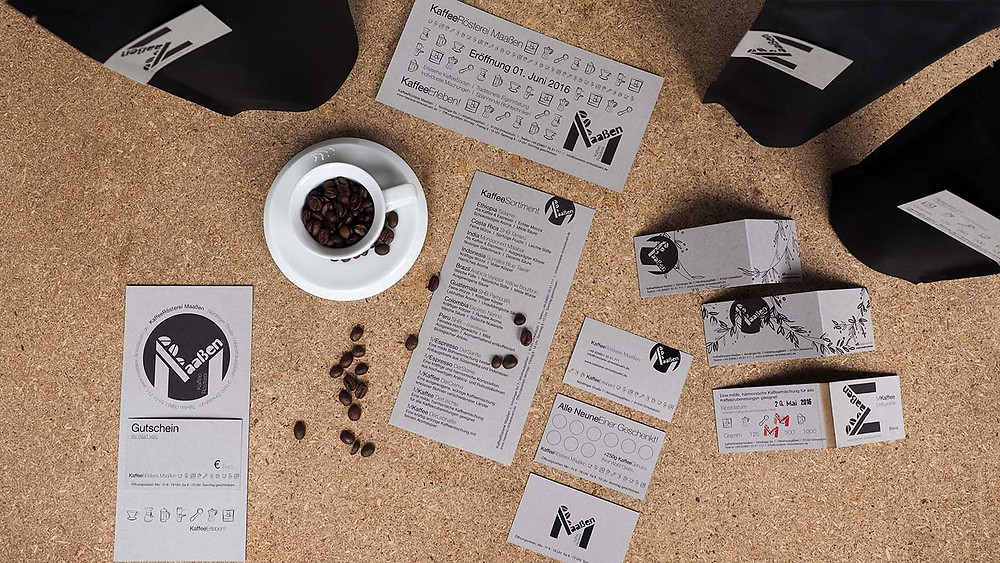 Corporate Design KaffeeRösterei Maaßen
