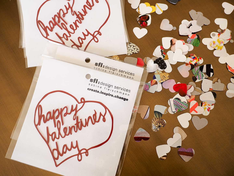 Scherenschnitt Happy Valentine's Day