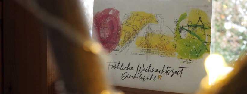 PostkartenSerie WeihnachtsDinkelsbühl Aquarell