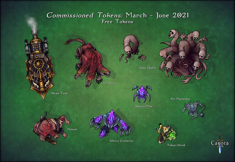 Commissioned Tokens - 03/21-06/21