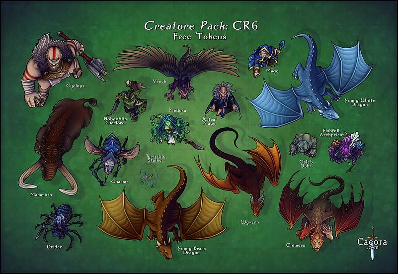 Monster Manual CR 6 - Free