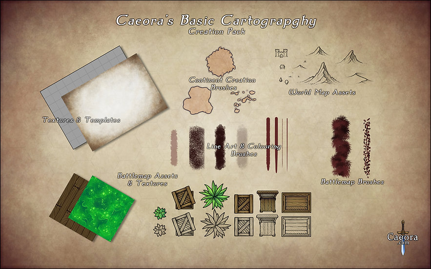 Caeora's Cartography Creation Pack