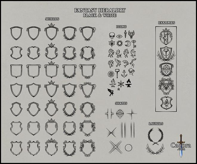 Fantasy Heraldry (Black & White)