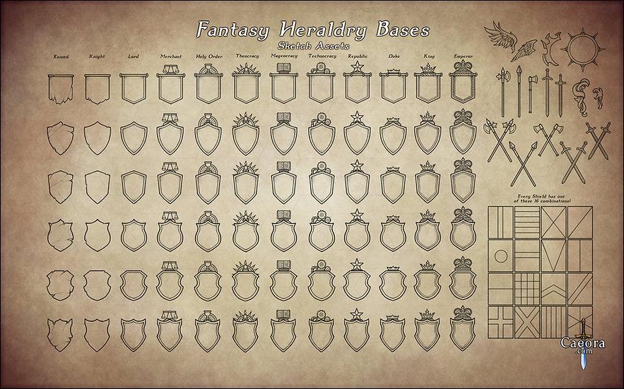 Fantasy Heraldry Bases