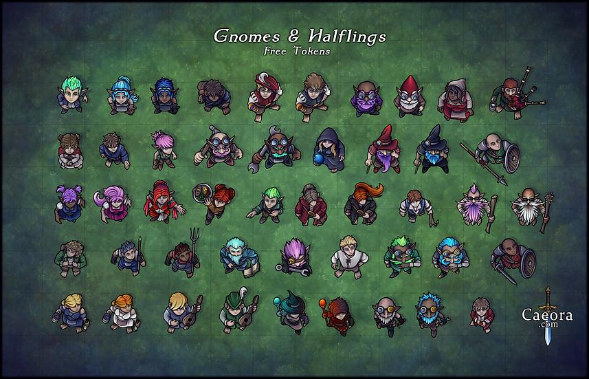 NPC Packs - Gnomes & Halflings