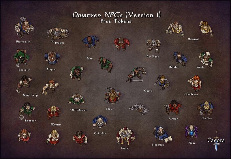 NPC Packs - Dwarves