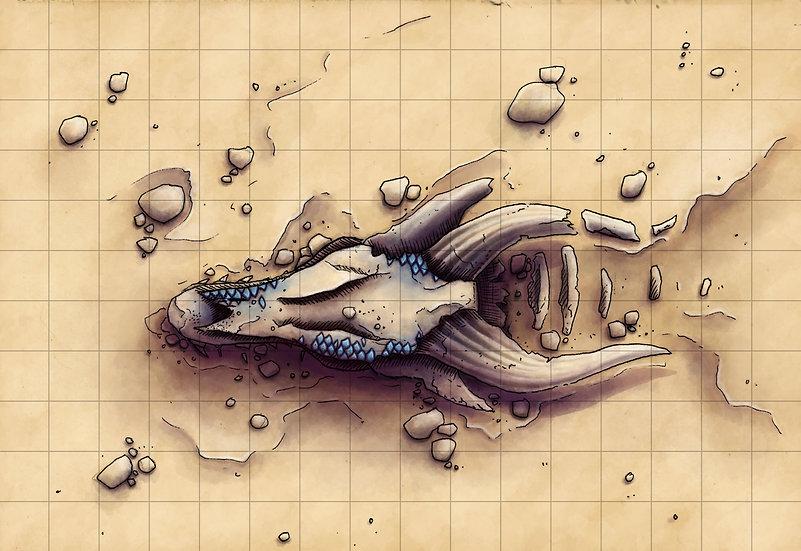 Desert Dragon Skull