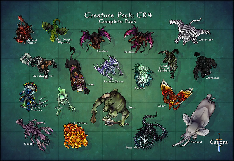 Monster Manual CR 4 - Complete Pack