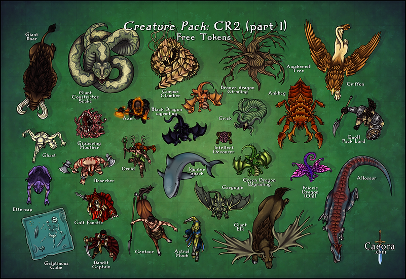 Monster Manual CR 2 (Part 1) - Free