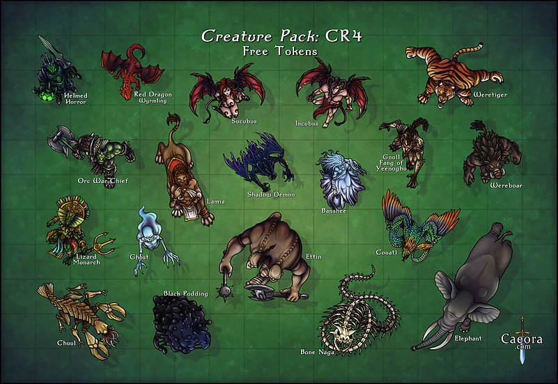 Monster Manual CR 4 - Free