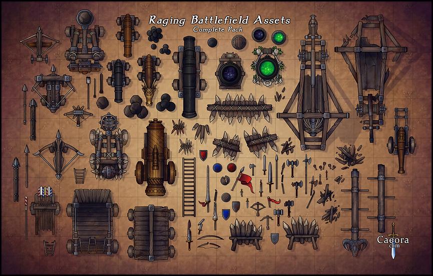 Raging Battlefield Assets - Complete Pack