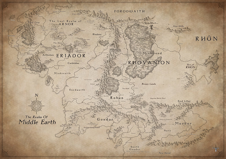 Middle Earth - Paper