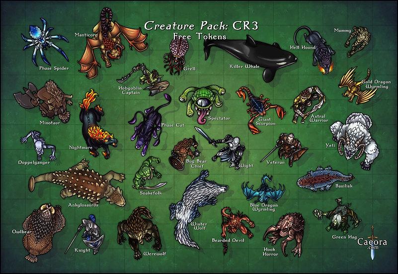 Monster Manual CR 3 - Free