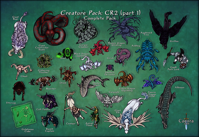 Monster Manual CR 2 (Part 1) - Complete Pack
