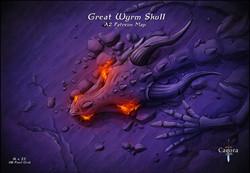 Great Wyrm Skull Night Display