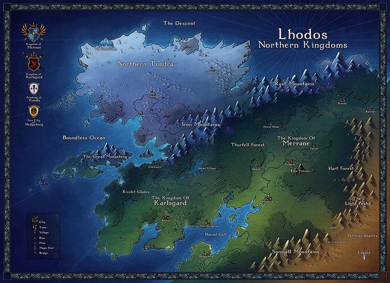 Lhodos Northern Kingdoms - Colour