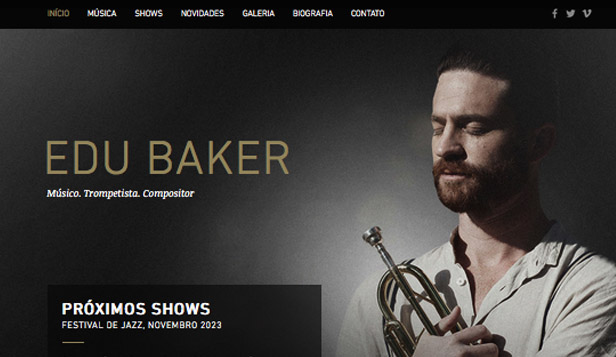 Música website templates – Músico de Jazz