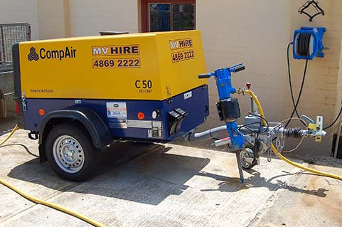 Air Compressor 176cfm for Hire from MV Hire