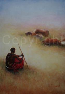Sitting Maasai