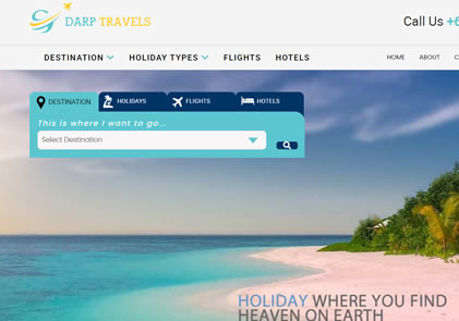 Darp Travels Website