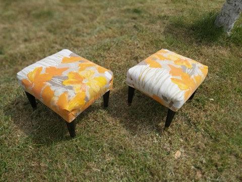 Pair of midcentury foot stools