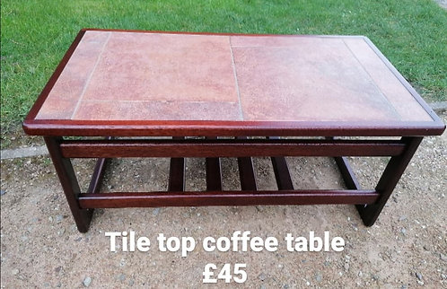 Tile top coffee table - NEW SALE PRICE