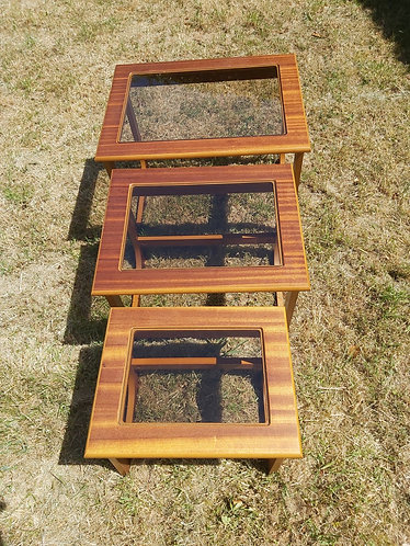 Glass topped nest of tables - NEW SALE PRICE