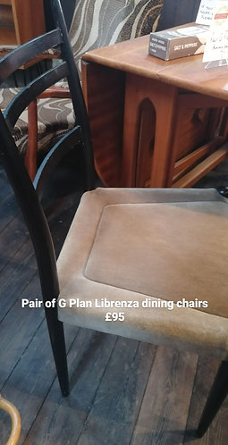 Pair of G Plan Librenza chairs - NEW SALE PRICE
