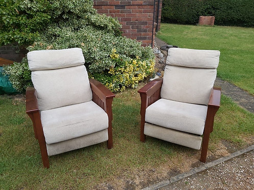 Amish Arts and Crafts Mission Chairs - NEW SALE PRICE