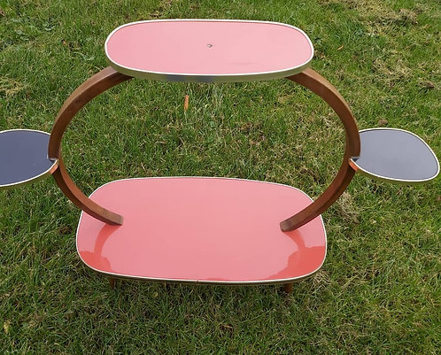 Midcentury formica plant stand/side table