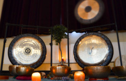 gongs and singing bowls relaxation