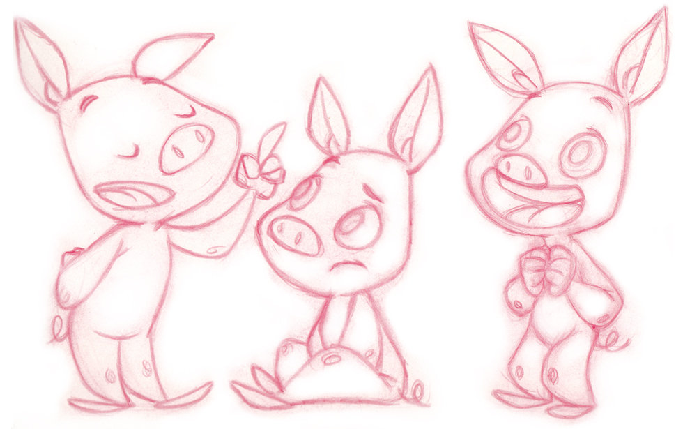 Piggy - childrensbook character design