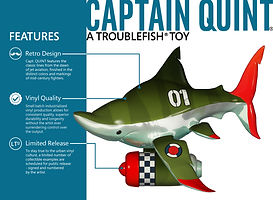 vinyl toy shark designer toy features