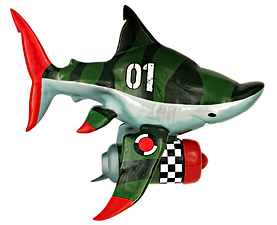 Savannah jet shark designer toy