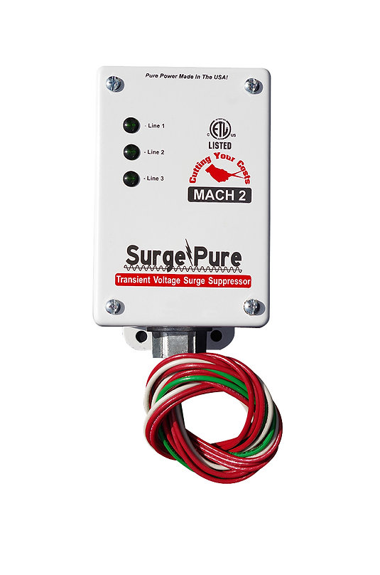Mach 2, Surge Protection, SurgePure, Surge Pure, Single Element, SPD, TVSS, transient voltage surge suppressor, non-degrading Surge Protection Device