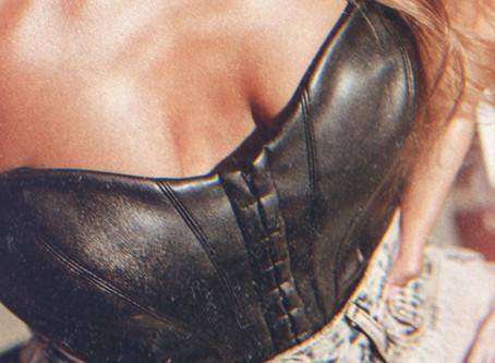 The Black Leather Corset