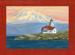 Patos Lighthouse with Mt. Baker
