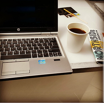 coffee laptop