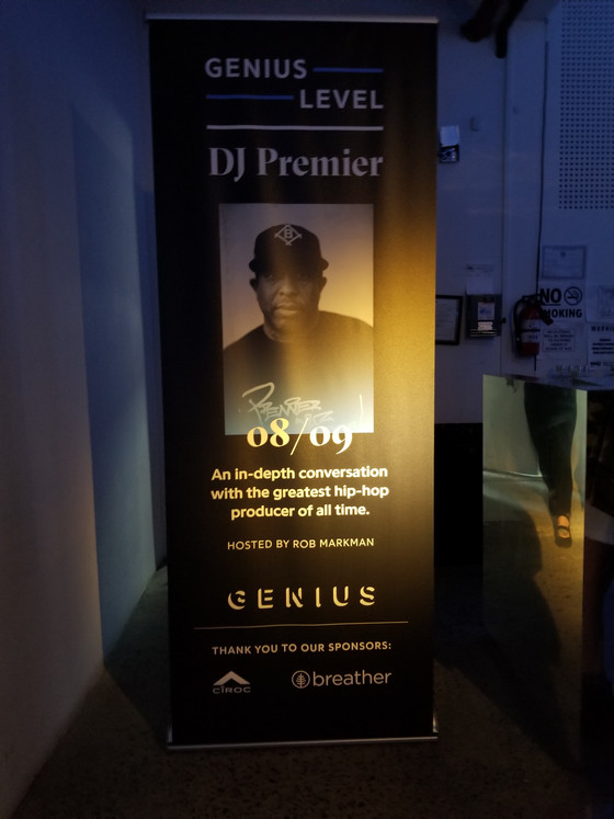 DJ Premier talks in Brooklyn