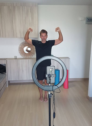 live online virtual personal fitness training newport beach dennis romatz