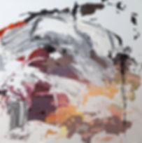 Jude Hotchkiss | Earthburst | oil & medium on canvas | 122 x 122 x 4cm | 2017