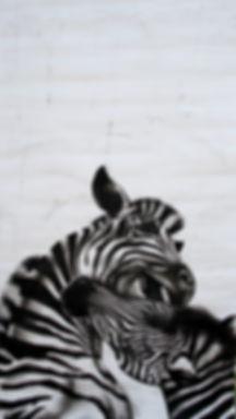 Ness Flett | Given a Pelting | charcoal, ink & gouache on paper | 100 x 180cm | 2015