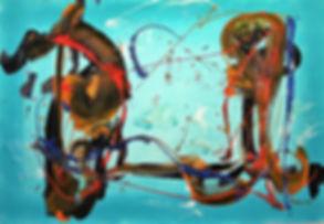 Leonie Scott | Buzz | acrylic polymer on hammermuhle paper | 59 x 84cm | 2017