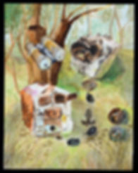 Roger Callen | Nowhere to go | watercolour & gouache on arches paper | 52.5 x 41cm | 2017