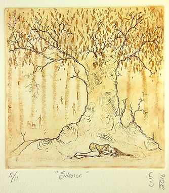 Elmari Steyn | Silence | Etching and Aquatint | 28 X 31cm | 2016