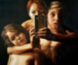 Leah D Jeffries | Just a sec... | oil on canvas | 108 x 122cm | 2017