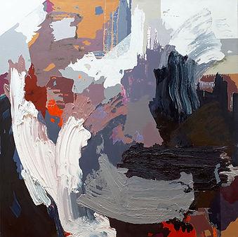 Jude Hotchkiss | Stormforce | oil & medium on canvas | 122 x 122 x 4cm | 2017