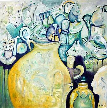 Susannah Paterson   A Still Life   oil on canvas   72 x 72cm   2017