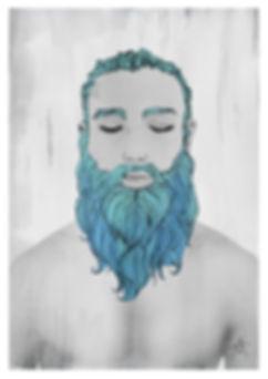Anthony Makhlouf | Elijah | Watercolour, felt tip pen & photography | 2016