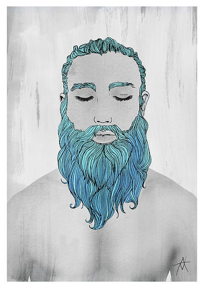 Anthony Makhlouf | Elijah | Watercolour, felt tip pen & photography | 2016